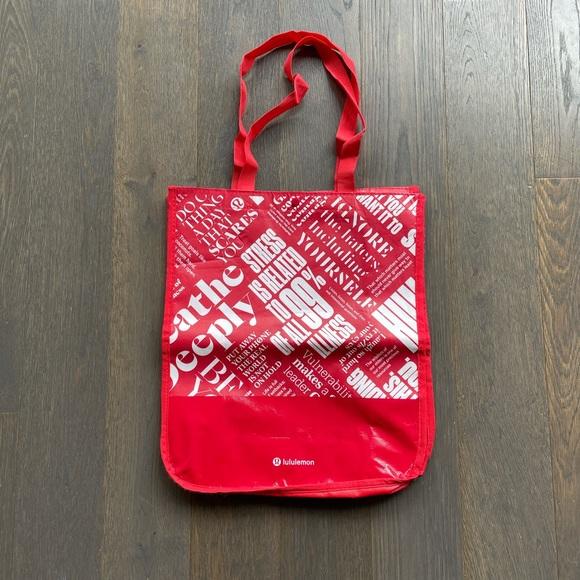 FREE Medium Lululemon Reusable Tote Bag - Red